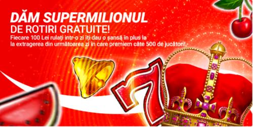 1 milion de rotiri gratuite la SUPERBET in luna iunie!
