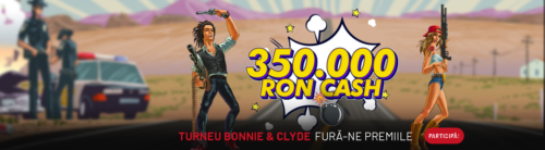 """Participa la """"Turneul Bonnie&Clyde"""" la MAXBET! Premii in valoare de 350.000 RON!"""