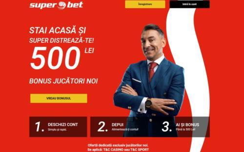 Oferta exclusiva de la SUPERBET in luna iulie: 200 RON extra bonus la casino!