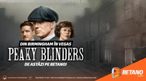 Din Birmingham direct în Vegas: Peaky Blinders vine pe Betano!