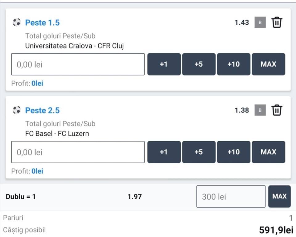 Biletul zilei fotbal ERC – Luni 03 August 2020 – Cota 1.97 – Castig potential 591 RON