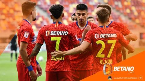 """Pariurile pe """"FCSB termină în primele 4"""", stabilite câștigătoare de Betano!"""