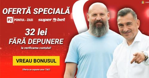 Oferta EXCLUSIVA de la SUPERBET pentru prietenii Pontul-zilei.com : 32 RON fara DEPUNERE la inregistrare!
