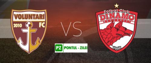Ponturi Voluntari vs Dinamo fotbal 2 august 2020 Liga 1
