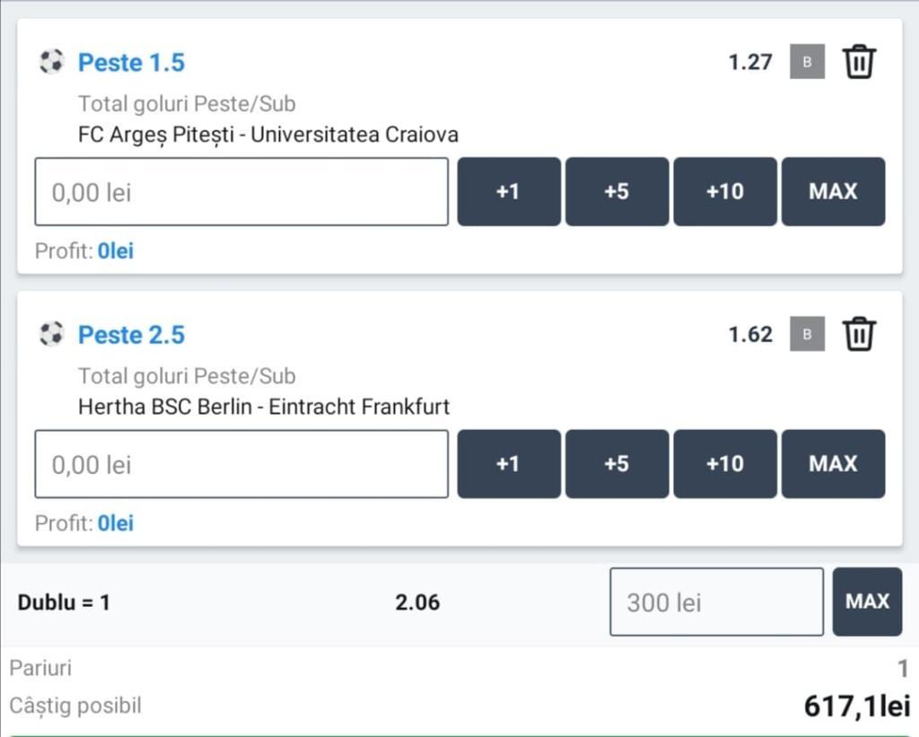 Biletul zilei fotbal ERC – Vineri 25 Septembrie – Cota 2.06 – Castig potential 617 RON
