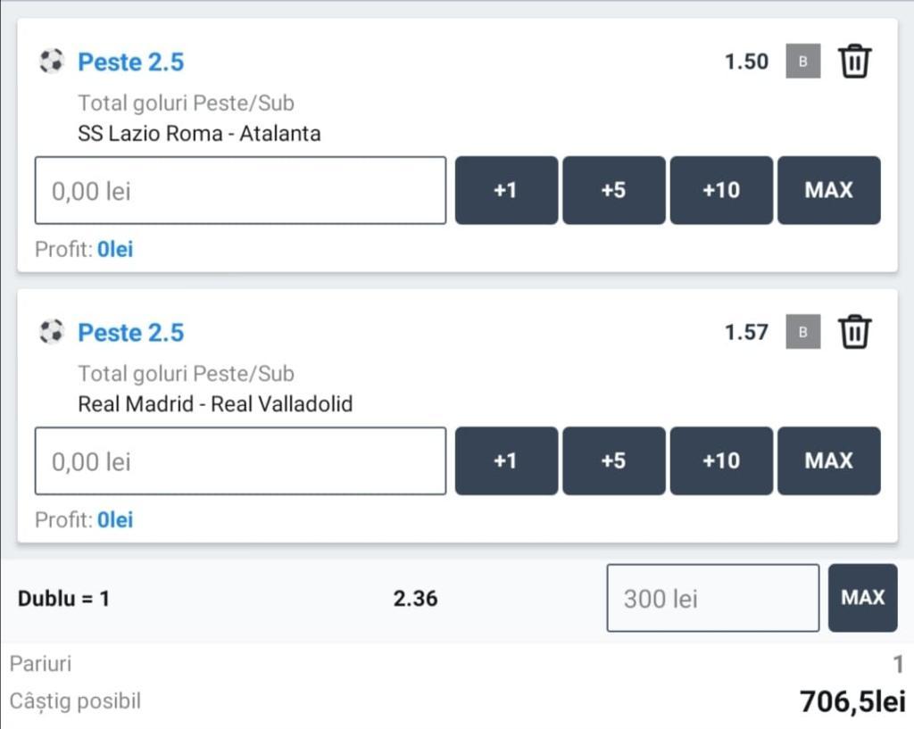 Biletul zilei fotbal ERC – Miercuri 30 Septembrie – Cota 2.36 – Castig potential 706 RON