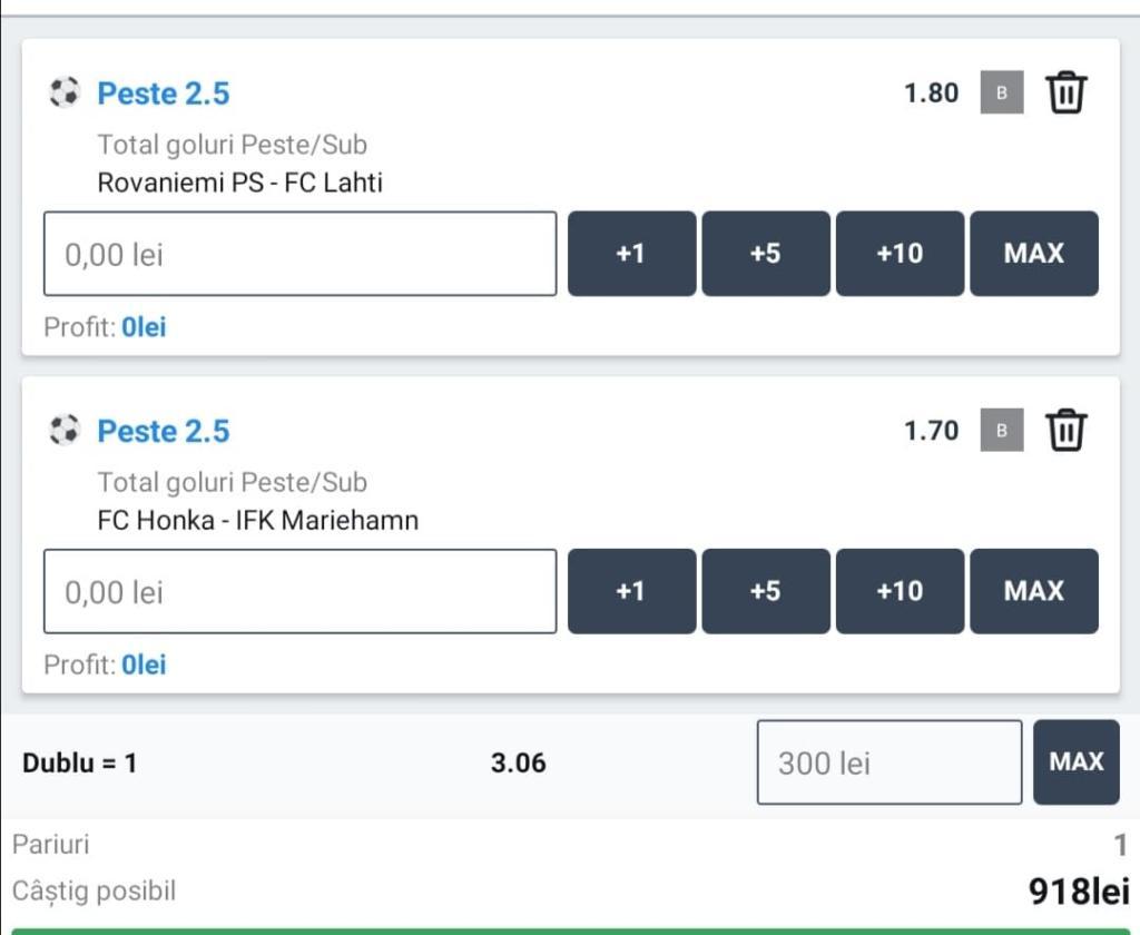 Biletul zilei fotbal ERC – Joi 15 Octombrie – Cota 3.06 – Castig potential 918 RON