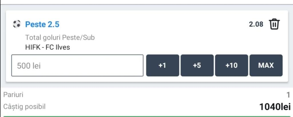 Cota zilei fotbal ERC – Joi 15 Octombrie – Cota 2.08 – Castig potential 1040 RON