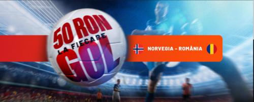 Pariaza pe Norvegia vs Romania si poti castiga free-bets in valoare de 50 RON de la MAXBET!
