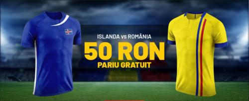 Pariezi pe Islanda vs Romania si primesti un pariu gratuit in valoare de 50 RON de la MAXBET!