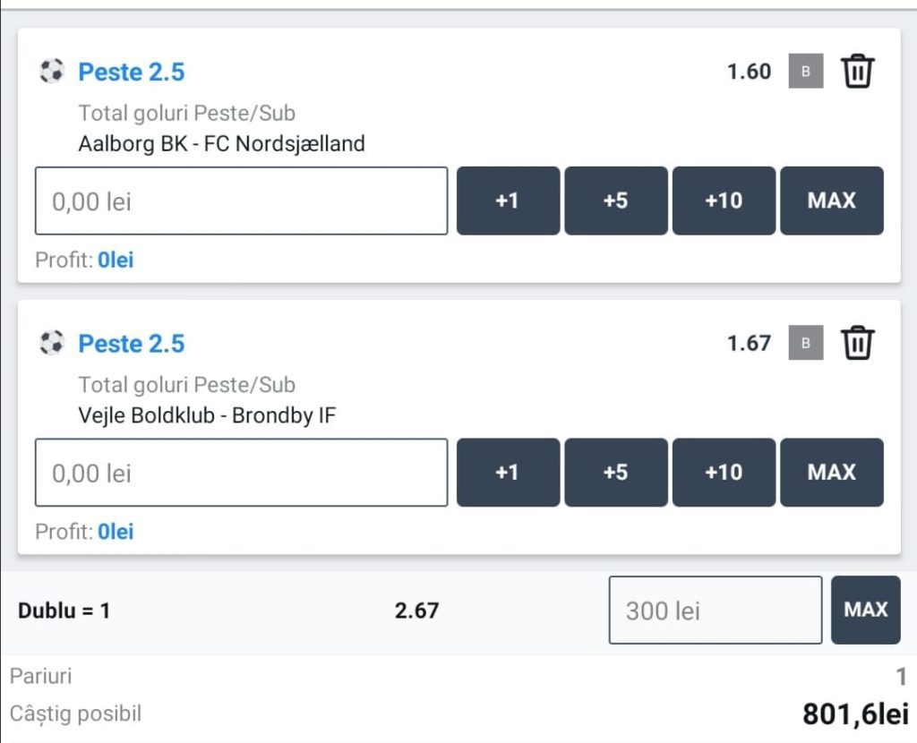 Biletul zilei fotbal ERC – Duminica 22 Noiembrie – Cota 2.67 – Castig potential 801 RON