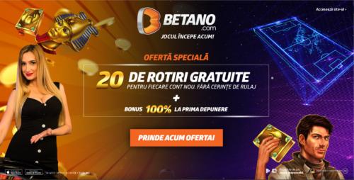 20 de rotiri FARA DEPUNERE SI RULAJ de la BETANO!
