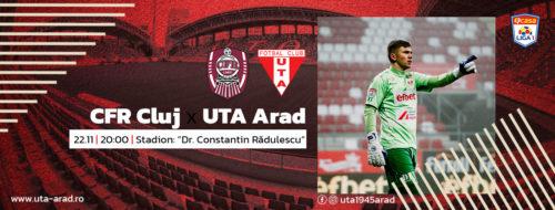 Ponturi CFR Cluj-UTA Arad 22-noiembrie-2020 Liga 1