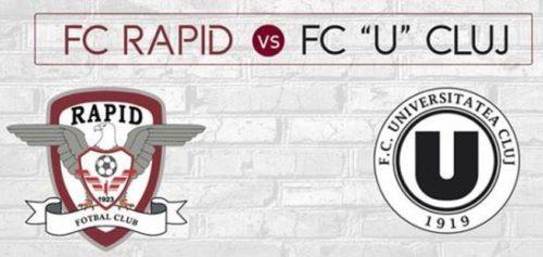 Ponturi Rapid vs U Cluj fotbal 19 noiembrie 2020 Liga 2
