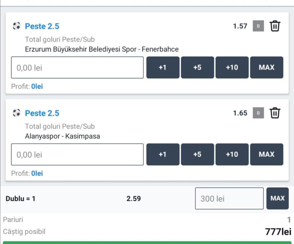 Biletul zilei fotbal ERC – Luni 11 Ianuarie – Cota 2.59 – Castig potential 777 RON