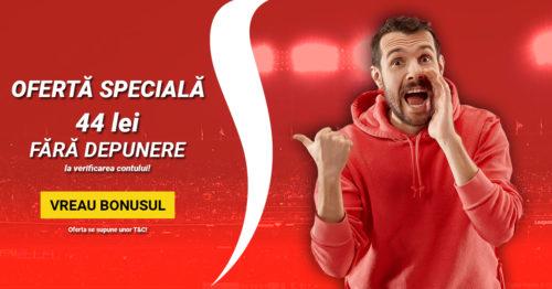 Oferta EXCLUSIVA de la SUPERBET pentru prietenii Pontul-zilei.com : 44 RON fara DEPUNERE la inregistrare!