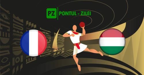Ponturi handbal Franta-Ungaria 27-ianuarie-2021 Campionatul Mondial