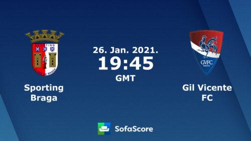 Ponturi Braga - Gil Vicente Fotbal 26-Ianuarie-2021 Portugalia Primeira Liga