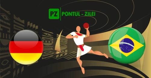 Ponturi handbal Germania-Brazilia 23-ianuarie-2021 Campionatul Mondial