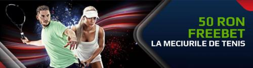 50 RON FREEBET de la NETBET daca pariezi pe tenis!