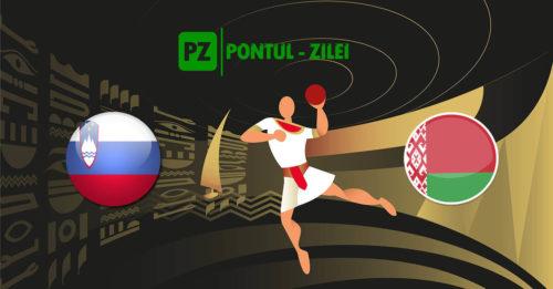 Ponturi handbal Slovenia-Belarus 18-ianuarie-2021 Campionatul Mondial
