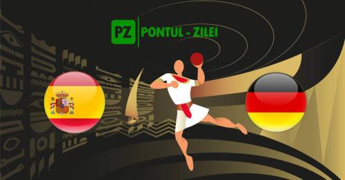 Ponturi handbal Spania-Germania 21-ianuarie-2021 Campionatul Mondial