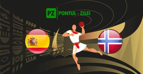 Ponturi handbal Spania-Norvegia 27-ianuarie-2021 Campionatul Mondial