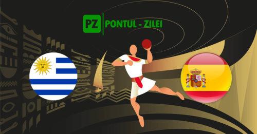 Ponturi handbal Uruguay-Spania 23-ianuarie-2021 Campionatul Mondial