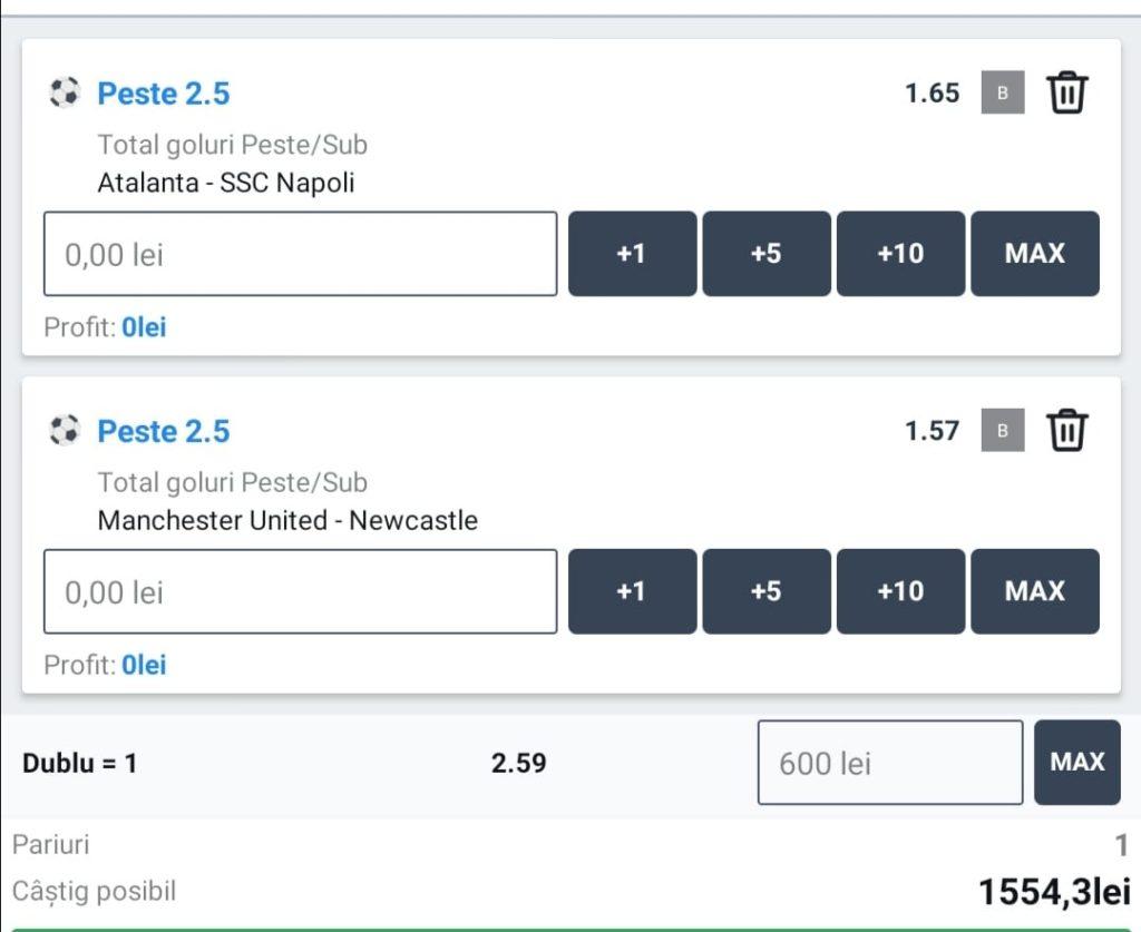 Biletul zilei fotbal ERC – Duminica 21 Februarie – Cota 2.59 – Castig potential 1554 RON