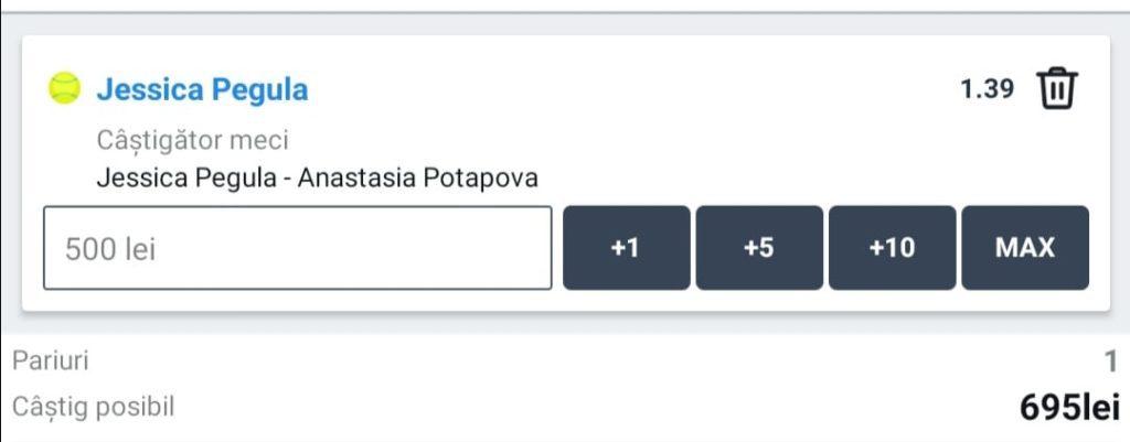 Cota zilei tenis ERC – Duminica 28 Februarie – Cota 1.39 – Castig potential 695 RON