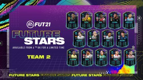 """Evenimentul """"Future Stars"""" primește o nouă echipă în FIFA 21 + SBC"""