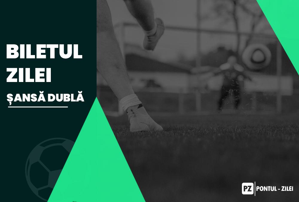 Biletul zilei fotbal șansă dublă – Luni 01 Martie 2021 – Cotă 2.94 – Câștig potențial 294 RON