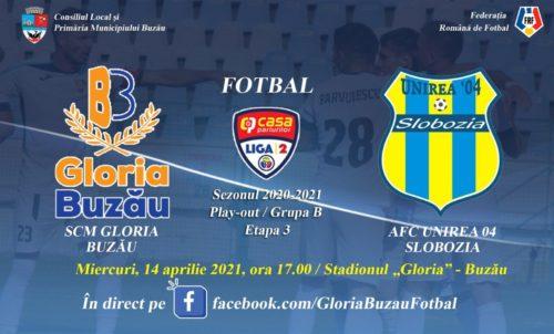 Ponturi Gloria Buzau-Unirea Slobozia 14-aprilie-2021 Liga 2