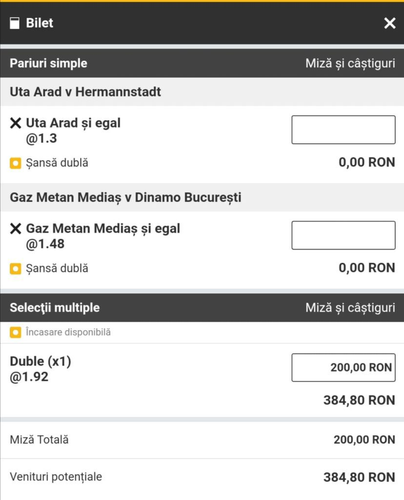 Biletul zilei fotbal Alyn – Vineri 23 Aprilie 2021 – Cota 1.92 – Castig potential 384 RON