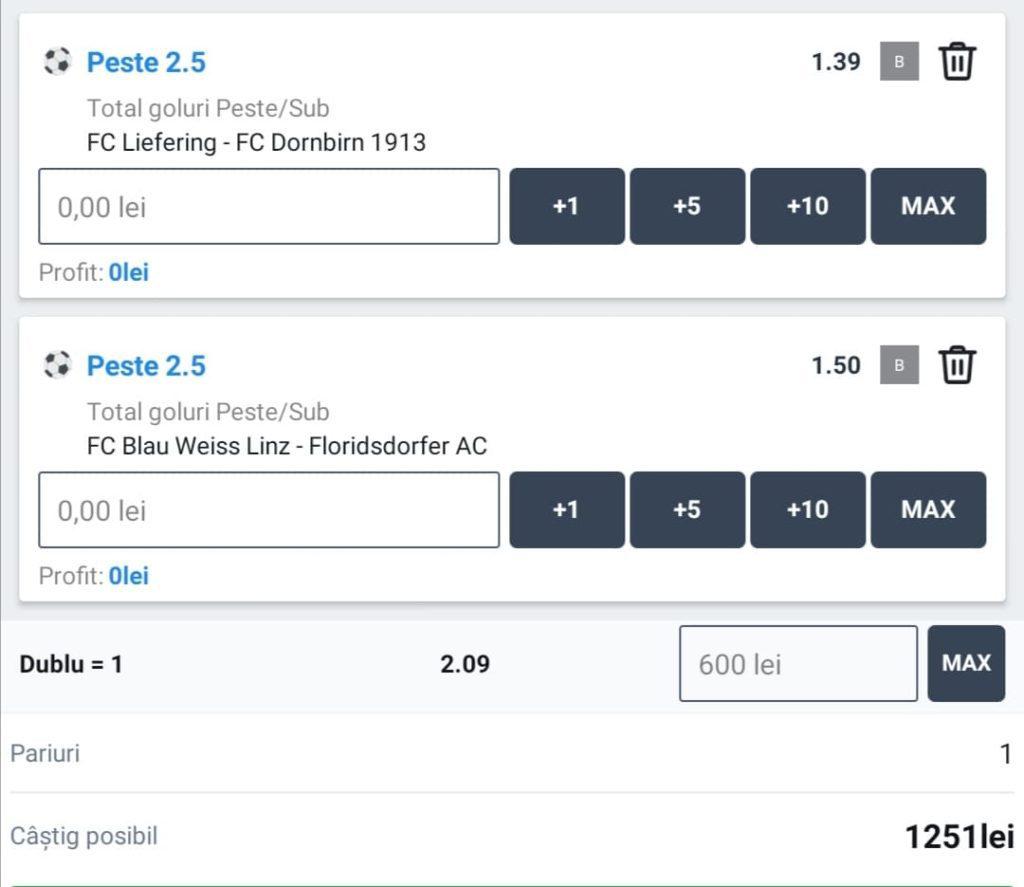 Biletul zilei fotbal ERC – Vineri 30 Aprilie – Cota 2.09 – Castig potential 1251 RON
