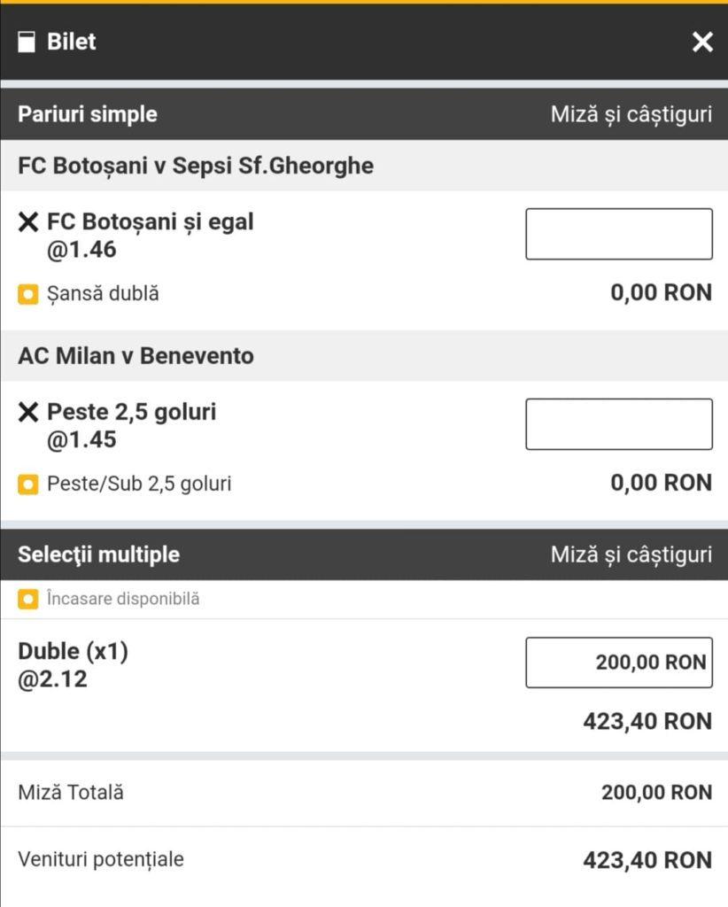 Biletul zilei fotbal Alyn – Sambata 01 Mai 2021 – Cota 2.12 – Castig potential 423 RON