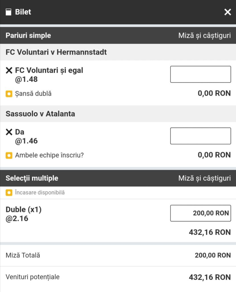 Biletul zilei fotbal Alyn – Duminica 02 Mai 2021 – Cota 2.16 – Castig potential 432 RON