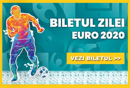 Biletul zilei fotbal EURO 2020  – Miercuri 23 Iunie 2021 – Cota 2.19 – Castig potential 547 RON