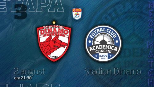 Ponturi Dinamo vs Academica Clinceni fotbal 2 august 2021 Liga 1