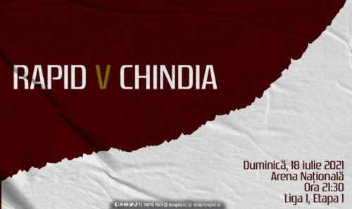 Ponturi Rapid vs Chindia fotbal 18 iulie 2021 Liga 1