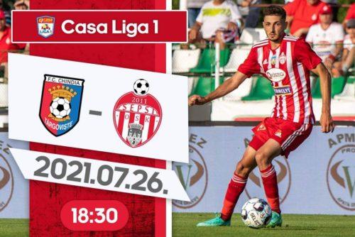 Ponturi Chindia Targoviste vs Sepsi Sf Gheorghe fotbal 26 iulie 2021 Liga 1
