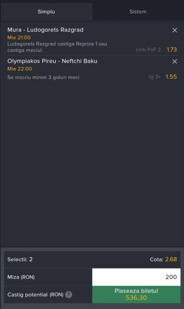 Biletul zilei fotbal Alyn – Miercuri 21 Iulie 2021 – Cota 2.68 – Castig potential 536 RON