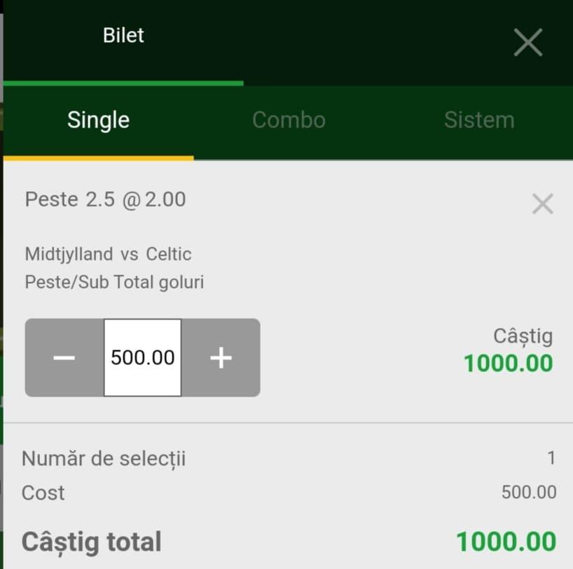 Cota zilei fotbal ERC – Miercuri 28 Iulie 2021 – Cota 2.00 – Castig potential 1000 RON