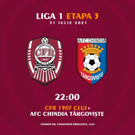 Ponturi CFR Cluj vs Chindia fotbal 31 iulie 2021 Liga 1