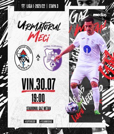 Ponturi Gaz Metan Medias vs FC Arges fotbal 30 iulie 2021 Liga 1