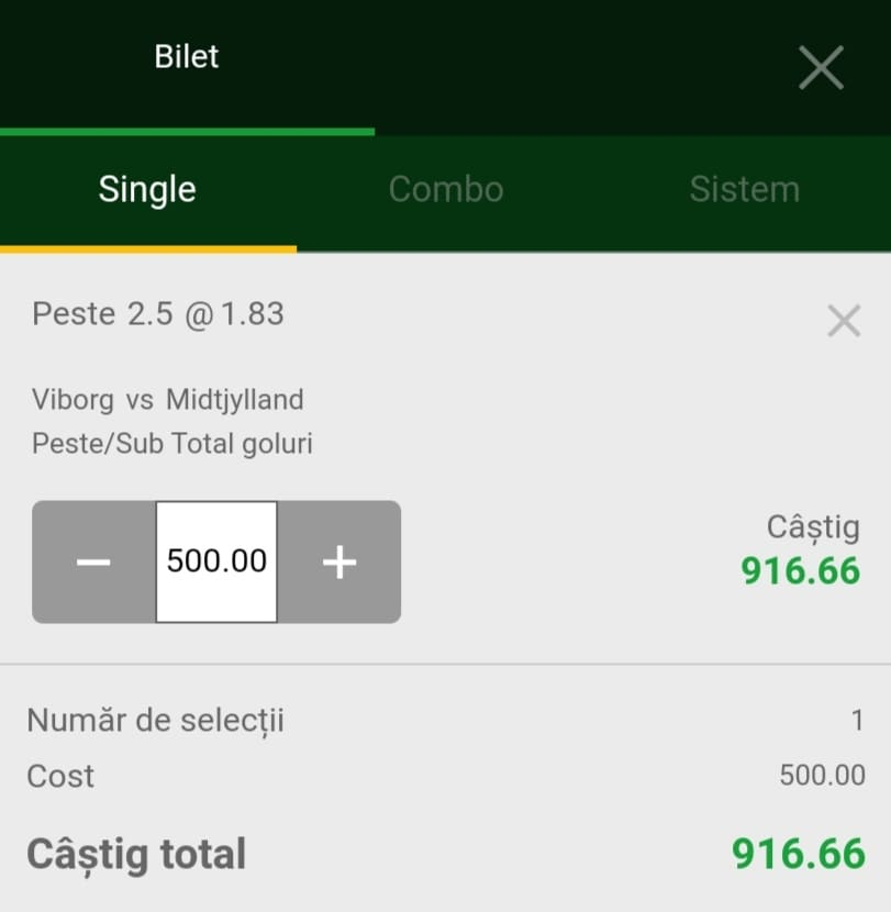 Cota zilei fotbal ERC – Sambata 31 Iulie 2021 – Cota 1.83 – Castig potential 916 RON