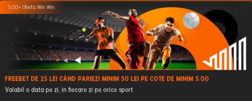 Castigi zilnic un freebet de 25 RON daca pariezi la 888Sport!