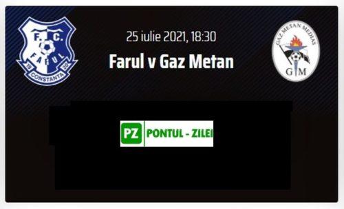 Ponturi Farul Constanta vs Gaz Metan Medias fotbal 25 iulie 2021 Liga 1