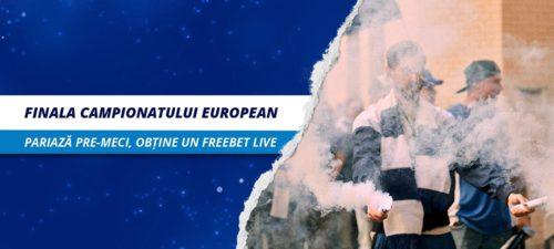 40 RON FREEBET LIVE de la SPORTINGBET pentru finala EURO2020!