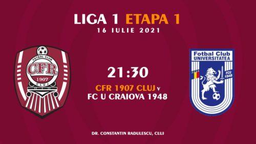 Ponturi CFR Cluj vs FCU Craiova fotbal 16 iulie 2021 Liga 1